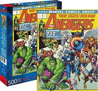 Aquarius Marvel Avengers Cover 500 Pc Puzzle, Multicolor