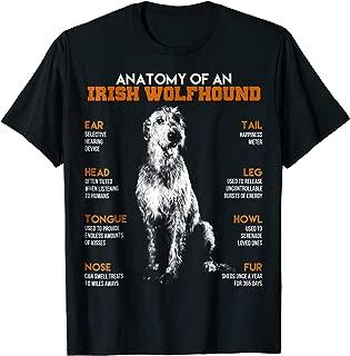 Anatomy Of An Irish Wolfhound Dogs T Shirt Funny Gift