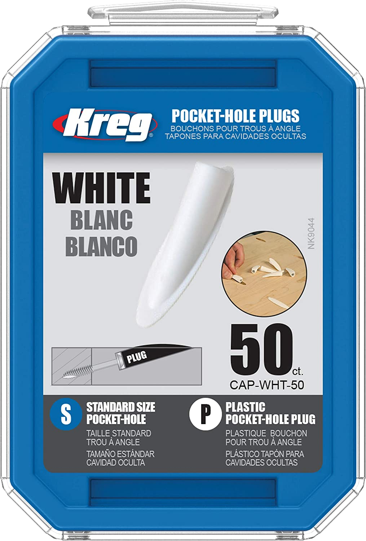 KREG Award CAP-WHT-50 White Great interest 50-Count Plugs Plastic