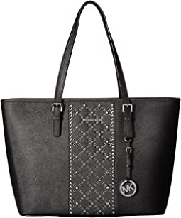 Jet Set Travel Top Zip Tote