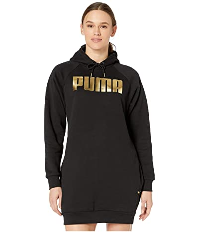 PUMA Holiday Pack Fleece Sweatshirt Dress (Black) Women