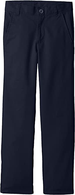 Nautica Kids - Slim Flat Front Twill Double Knee Pants (Big Kids)
