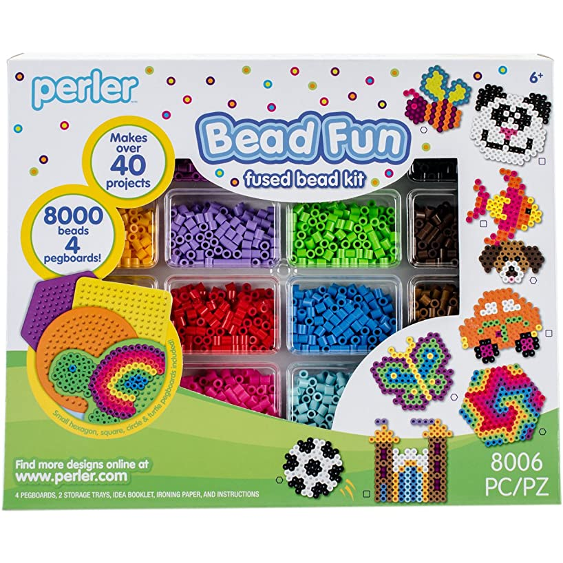 Perler Bead Activity Kit and Storage Trays, 8008 pcs