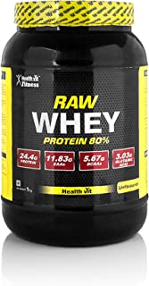 Healthvit Fitness Raw Whey Protein Concentrate 80% 1kg (Raw & Unflavoured / 23.37g Protein Per Serving)
