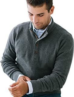 Men's Long Sleeve Mock Neck Sweater