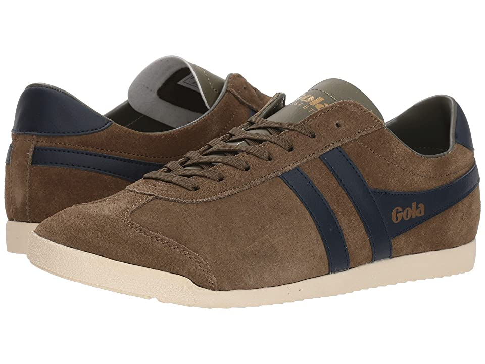 Mens Vintage Style Shoes| Retro Classic Shoes Gola Bullet Suede KhakiNavy Mens Shoes $85.00 AT vintagedancer.com