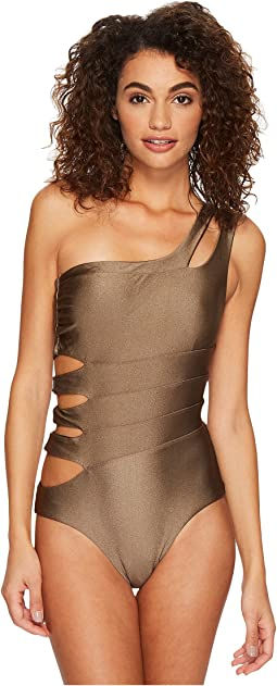 BECCA by Rebecca Virtue - Reversible Shimmer Asymmetrical One-Piece
