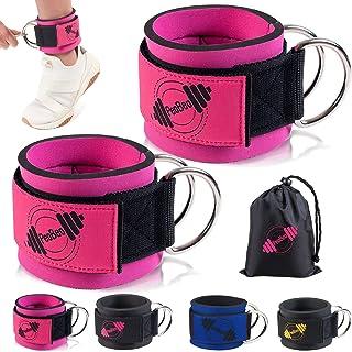 أشرطة الكاحل PeoBeo لآلة الكابلات، ملحقات كبل الكاحل لصالة الألعاب الرياضية الكاحل الأكمام آلات الكابلات للنساء
