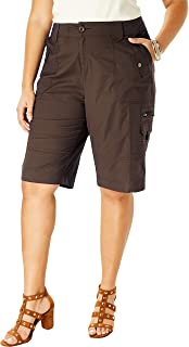 Roamans Women's Plus Size Cargo Shorts