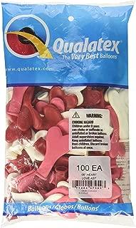 Qualatex 6 Inch Latex Heart Balloons, Love Assortment (100 Pack)