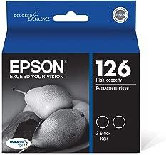 Epson T126120-D2 DURABrite Ultra Black Dual Pack High Capacity Cartridge Ink