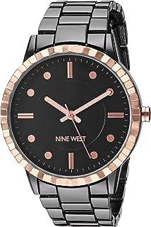 Nine West NW/2313GYRT - Reloj de pulsera para mujer, color dorado y gris