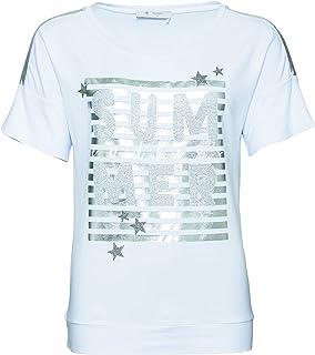 ecccce27cb69d8 MONARI Shirt Summer Lackdruck, Rundhals 1/2 Fb. weiß