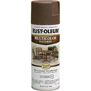 Rust-Oleum 223523 Multi-Color Textured Spray Paint, 12 oz, Autumn Brown