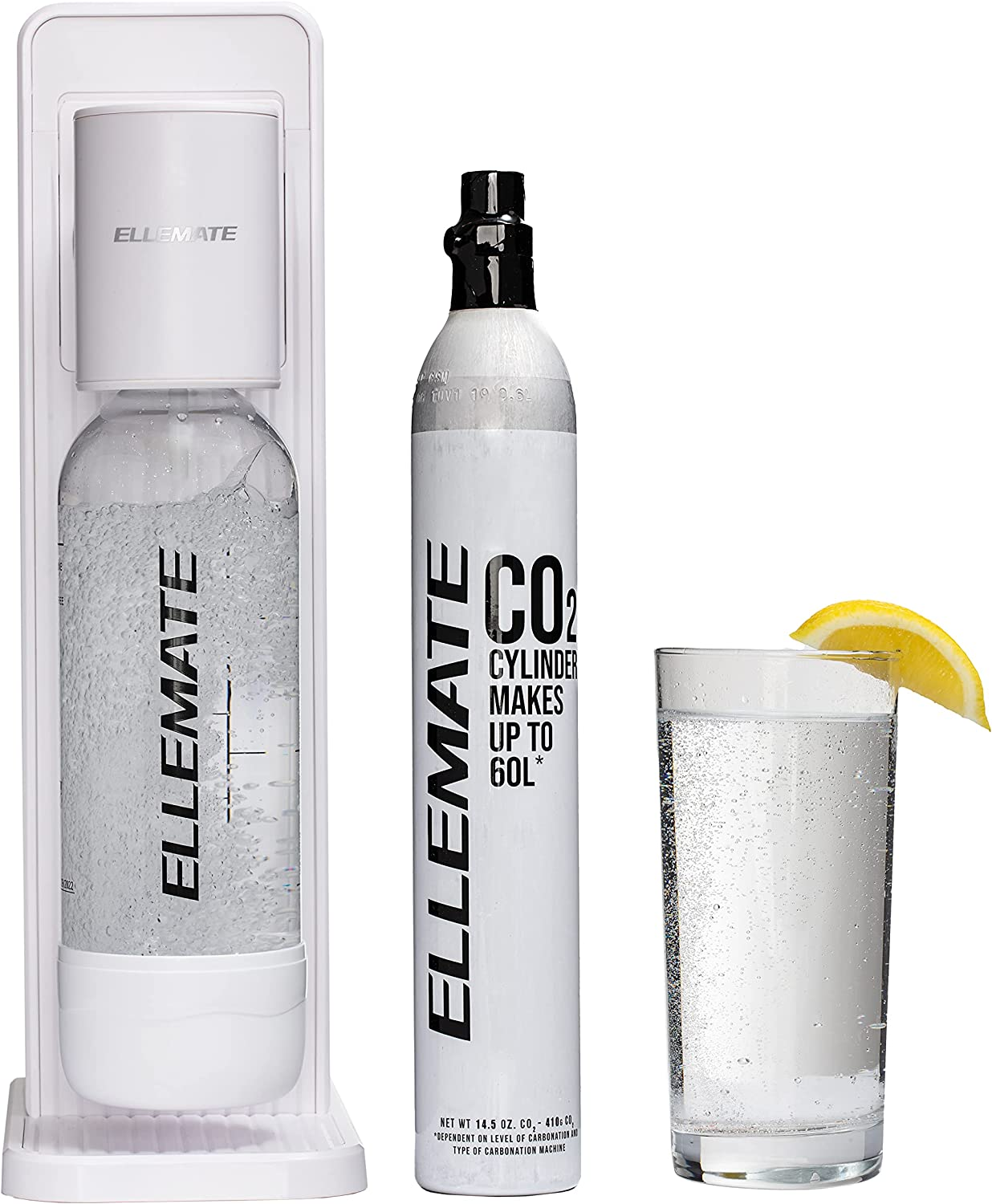 Ellemate Classic White At Cheap sale the price of surprise - Soda Maker Fizz Cordless Adjustable
