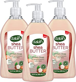 Dalan Shea Butter Cream Ultra Moisturizing Liquid Hand Soap for Normal and Dry Hands Fresh Clean and Soft Feeling (13.5 Fl...