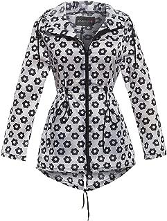 Shelikes New Ladies Hooded Daisy Raincoats Sizes XS-XXL