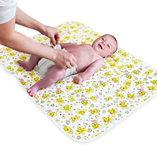 "Portable Changing Pad - Biggest Waterproof & Reusable Changing Mat (25.5""x31.5"") for Change Diaper in Any Places - Unisex Design for Girls & Boys - Improved Reinforced Double Seams - Free Storage Bag"