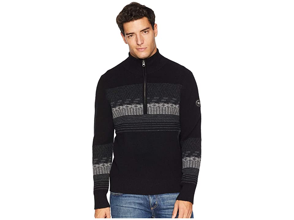 Obermeyer Textured 1/2 Zip Sweater (Black) Men