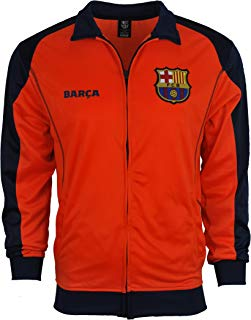 Rhinox Fc Barcelona Jacket Track Soccer Adult Sizes Soccer Football Official Merchandise X-Large New Orange