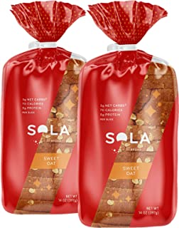 SOLA Sweet Oat Low Carb Sandwich Bread Loaf (2 Pack)