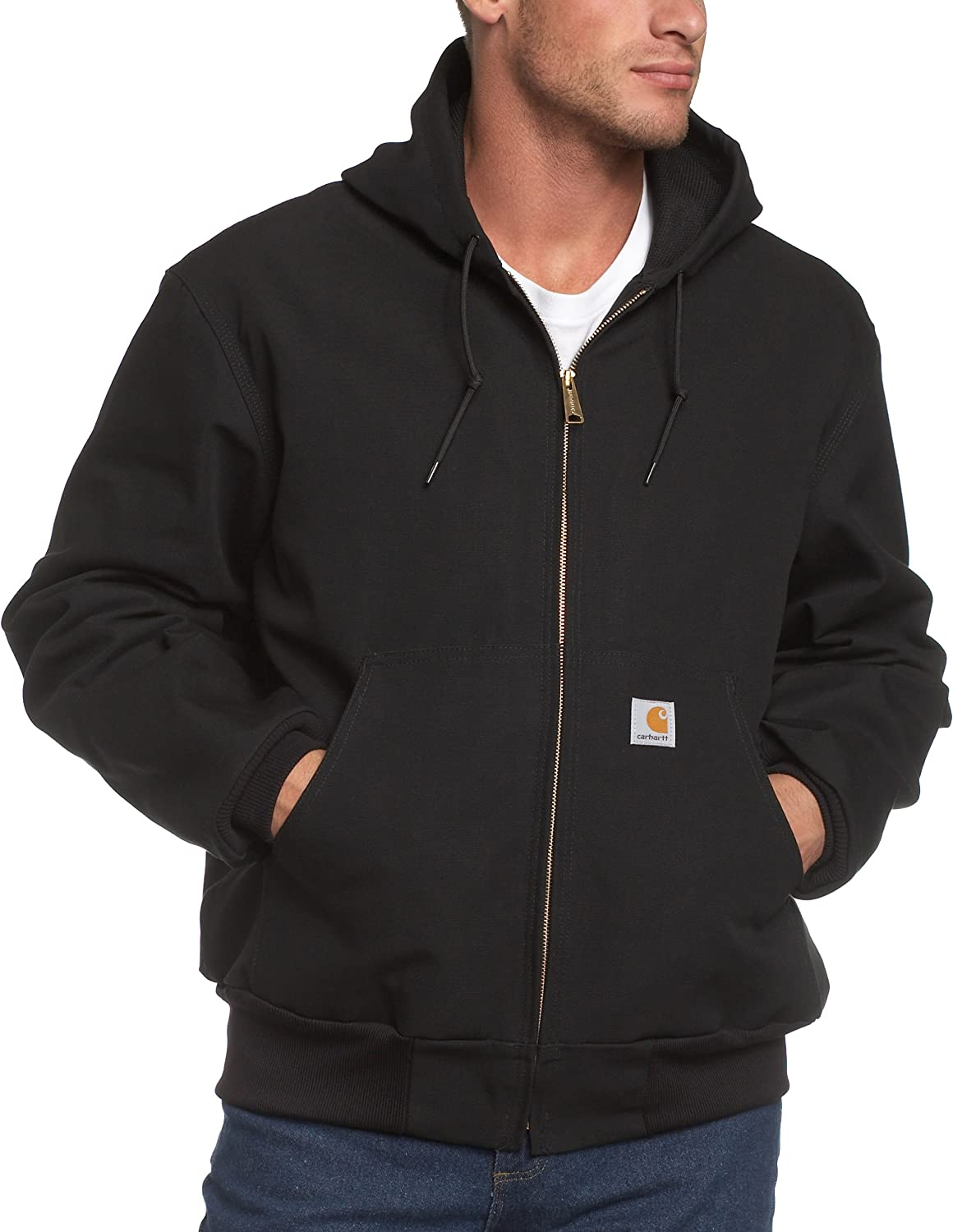 Carhartt mens Thermal Lined Duck Active Jacket J131 (Regular and Big & Tall Sizes)