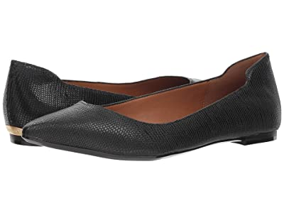 Calvin Klein Giannis (Black Shiny Lizard) Women