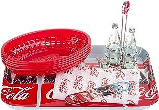 "Tablecraft 400799 Coca-Cola Bundle, 15.25"" x 11"" x 3"", Red"