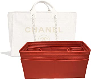 c826473dcb Zoomoni Chanel Deauville Tote (Large) Purse Organizer Insert - Premium Felt  (Handmade/