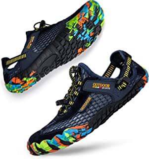 Ritiriko Water Shoes Unisex Aqua Shoes - Quick Drying Barefoot Shoes Trail Running Trainers for Beach Yoga Swim Surfing Di...