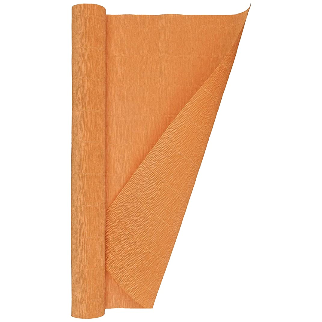 Crepe Paper Roll, Heavy Italian 180 g, 13.3 sqft, Orange Pumpkin