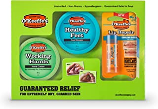 O'Keeffe's Skincare Giftpack - Working Hands, Healthy Feet and Lip Repair, Single Pack, 1.0 count