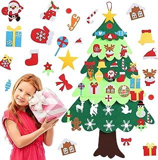 YILEEY Arbol de Navidad del Fieltro 127cm, Decoracion Navidad, Árbol de Navidad de Fieltro con 36 Adornos Extraíbles, Arbo...