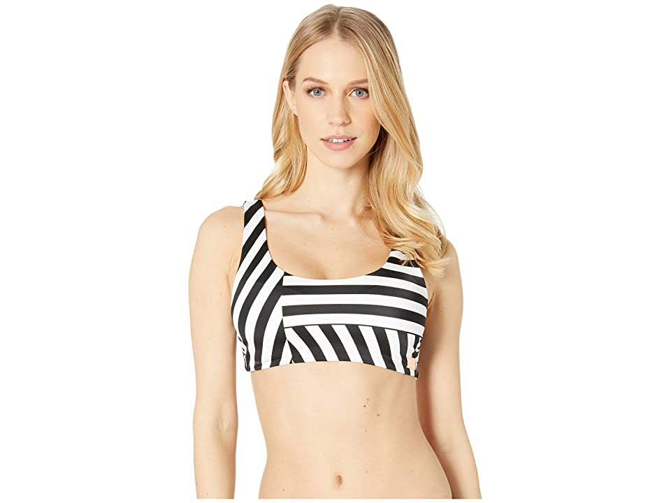 Roxy Pop Surf Full Bra Printed Top (True Black Victoria Stripes) Women