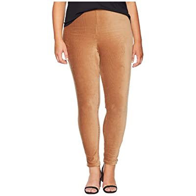 HUE Plus Size High-Waist Corduroy Leggings (Caramel) Women