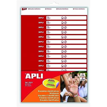 APLI Kids 12523–Lot de 32Bracelets d'identification avec 2feuilles