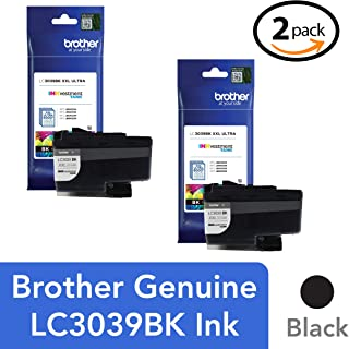 Brother Genuine LC3039BK Single Pack Ultra High-Yield Black INKvestment Tank Ink Cartridge, Page Yield Up to 6,000 Pages, ...