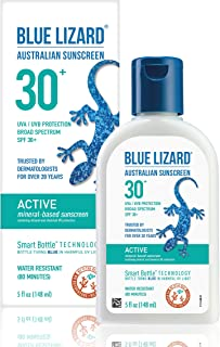 Sponsored Ad - Blue Lizard Active Mineral-Based Sunscreen – No Oxybenzone, No Octinoxate – SPF 30+ UVA/UVB Protection, 5 oz