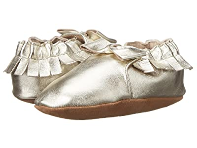 Robeez Premuim Leather Moccasin Maggie Soft Sole (Infant/Toddler) (Gold) Girls Shoes