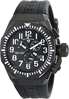 Men's 10540-BB-01-WA Trimix Diver Chronograph Black Dial Black Silicone Watch
