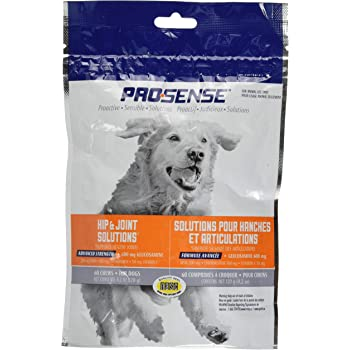 ProSense Hip and Joint Solutions 60 Count, for Dogs, Advanced Strength Glucosamine