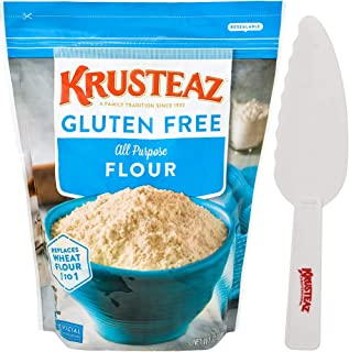 Krusteaz Gluten Free All Purpose Flour 32 oz Resealable Bag with Krusteaz Pastry Knife