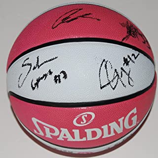 2017 LOS ANGELES SPARKS team signed *BREAST CANCER* PINK WNBA basketball W/COA - Autographed WNBA Basketballs