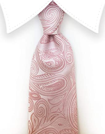 ff7a9e2b4417 Gentleman Joe - Blush Pink Paisley Tie, Pale Pink, Rose Gold Men's Formal  Wedding