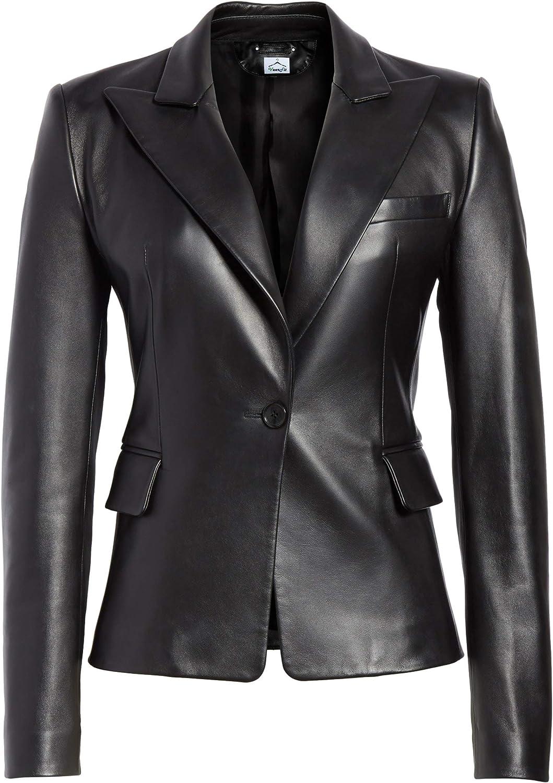 Regular dealer VearFit Skeel Lambskin Women Blazar Coat Jacket Leather Real Max 44% OFF