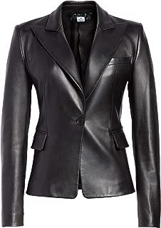 VearFit Skeel Lambskin Women Blazar Coat Real Leather Jacket