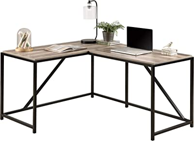 Merax L Shape L Workstation Computer Home Office Wood Laptop Table Study Desk, Oak