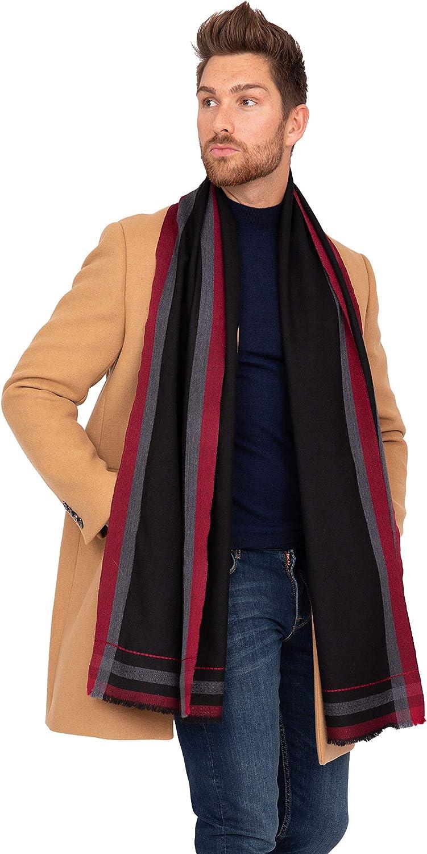 likemary Bufanda para hombre 100% lana pura merino caliente elegante invierno silenciador ético Fairtrade y tejido a mano