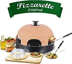 Emerio PO-115984 Horno para Pizzas Eléctrico, 1200 W, Terracota, Terracotta Orange, Schwarz