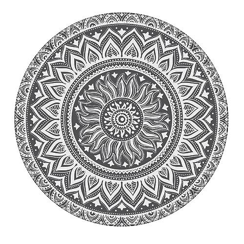 Black And White Circles Area Rug Amazon Com